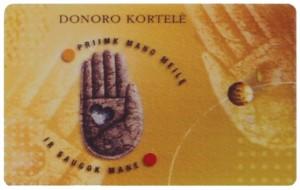 Donoro kortele