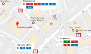 map zemaites 21 su stotelem